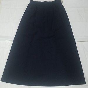 Womens Talbots navy long skirt size 1